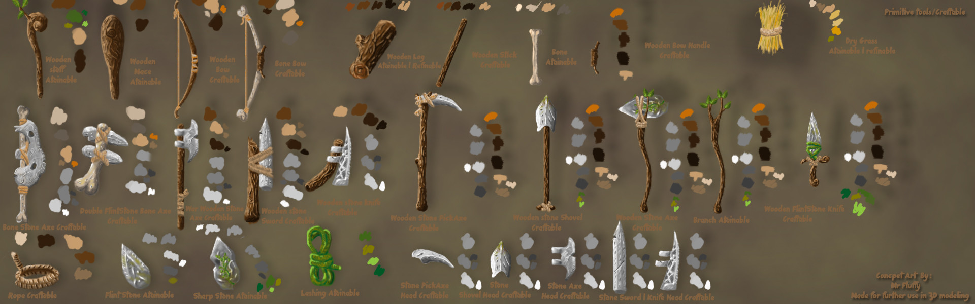 Craftable tools pack