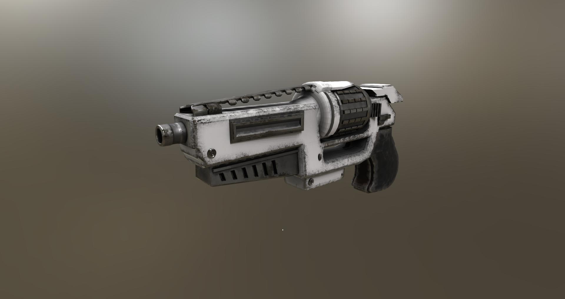futuristic old school revolver