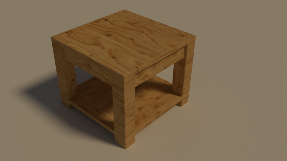 Table in Blender
