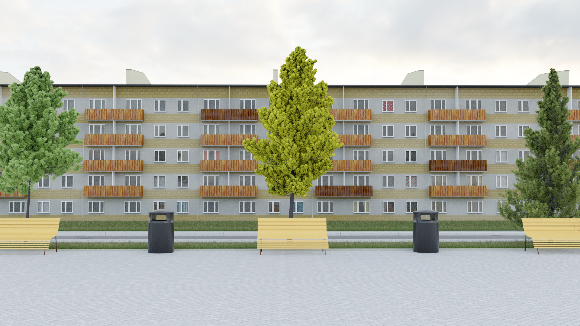 3D Soviet Apartment Block