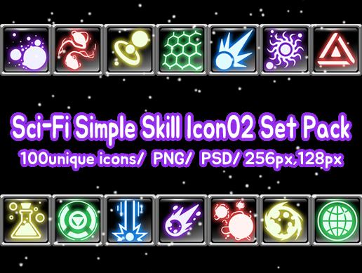 Sci-Fi Simple Skill Icon