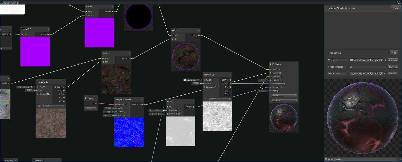 Unity内置着色器可视化编程工具Shader Graph