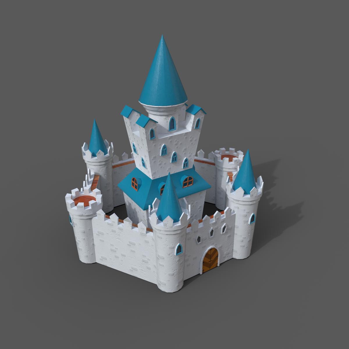 3d castles set
