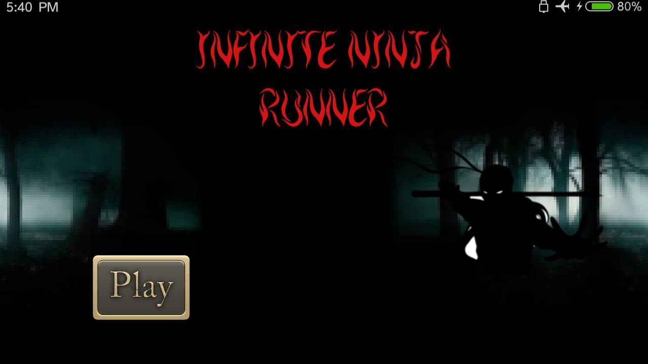 Infinite Ninja Runner