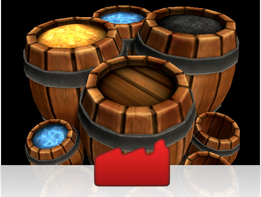 Stylized Wooden Barrel Pack / FREE