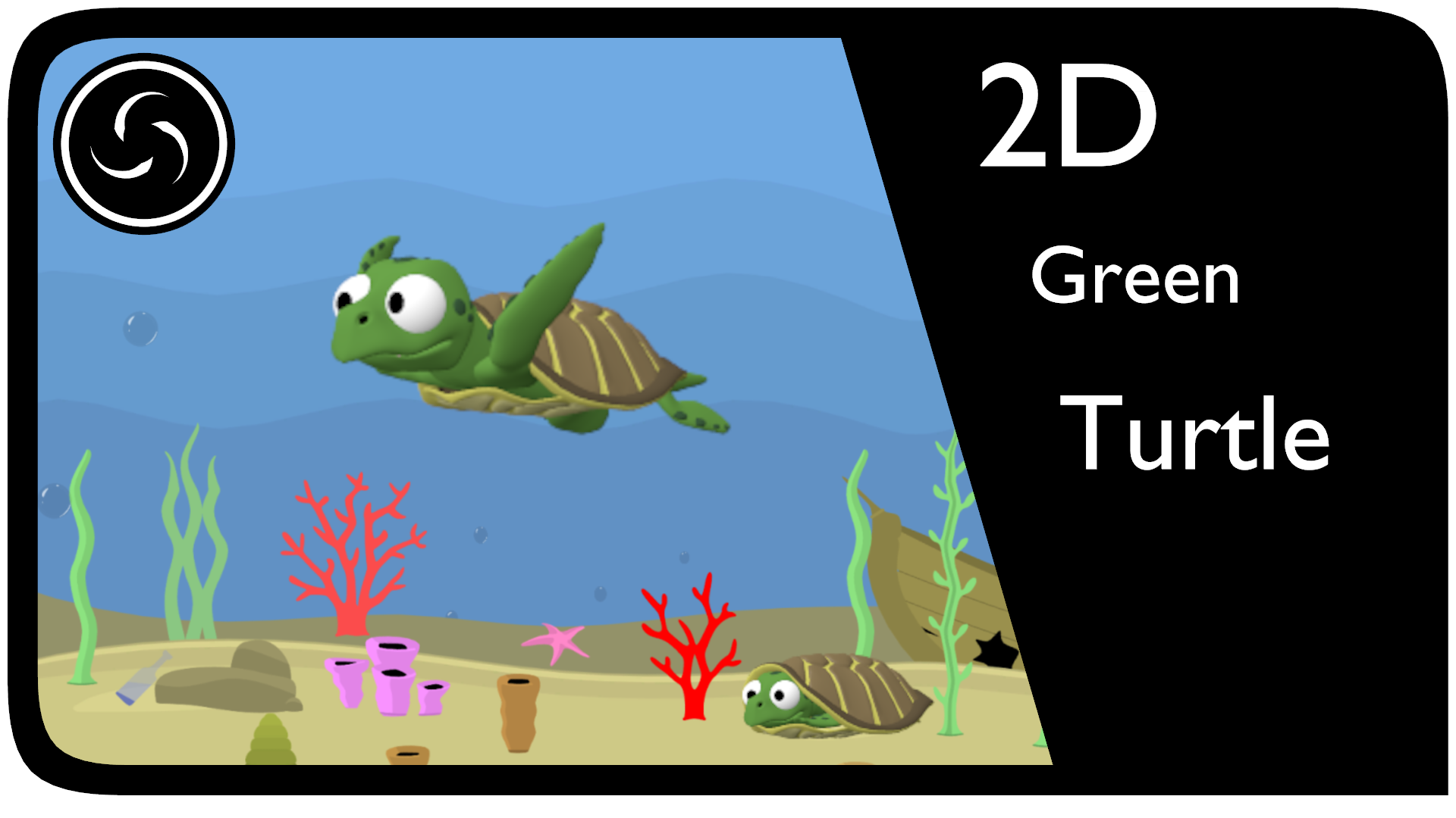 2D Green Turtle