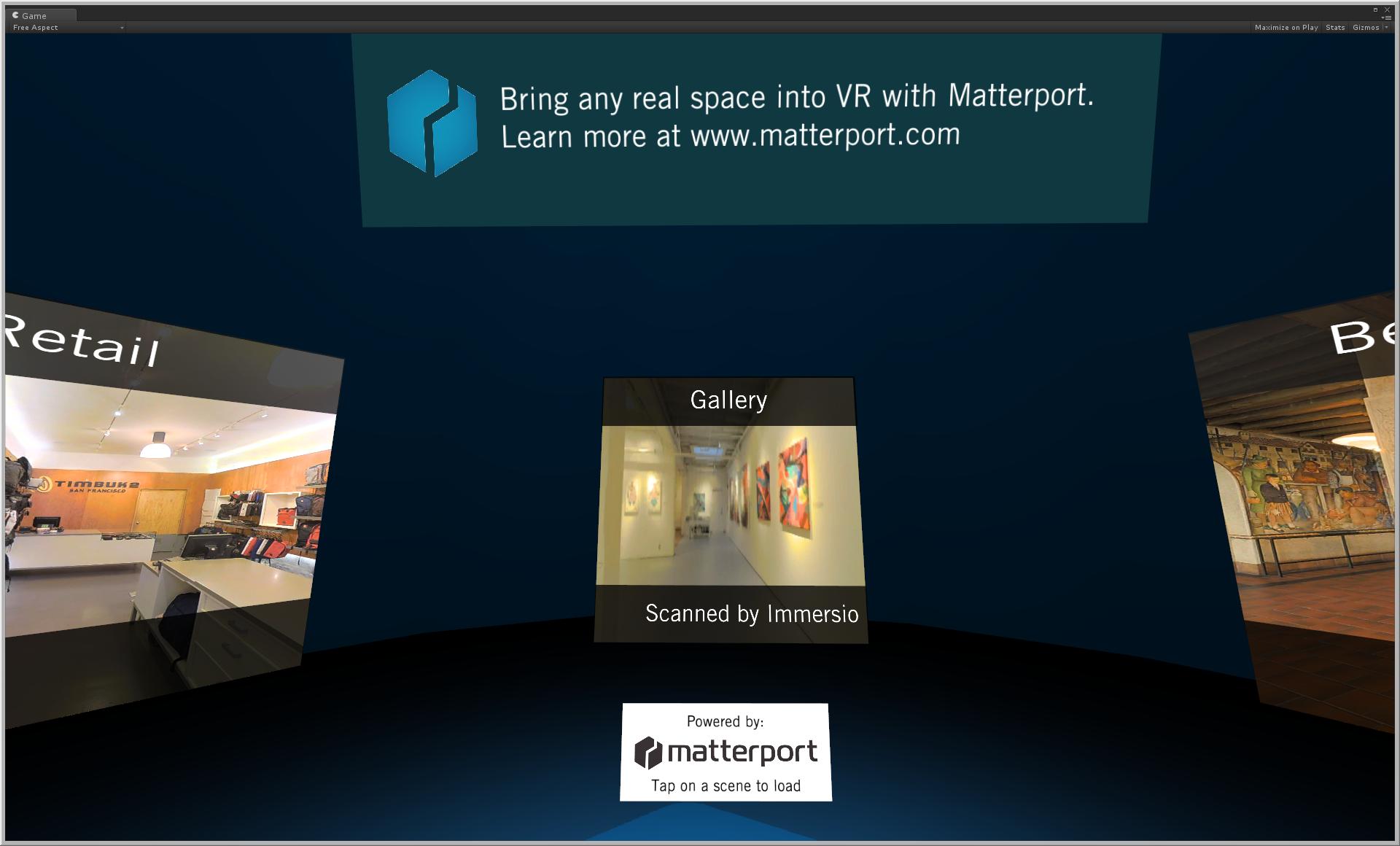 Matterport GearVR experience
