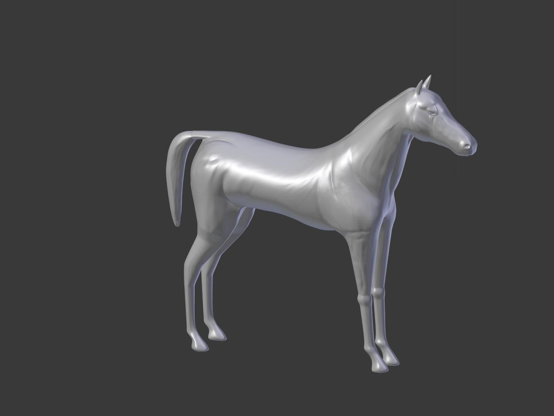 3D Sculpted Horse in Blender