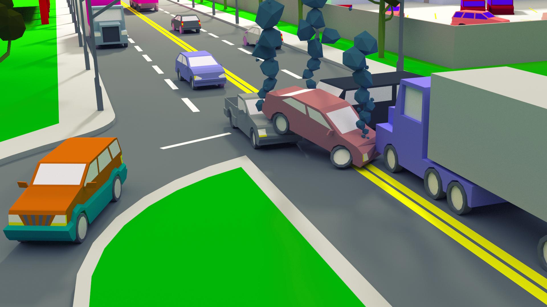 Crossroad crash