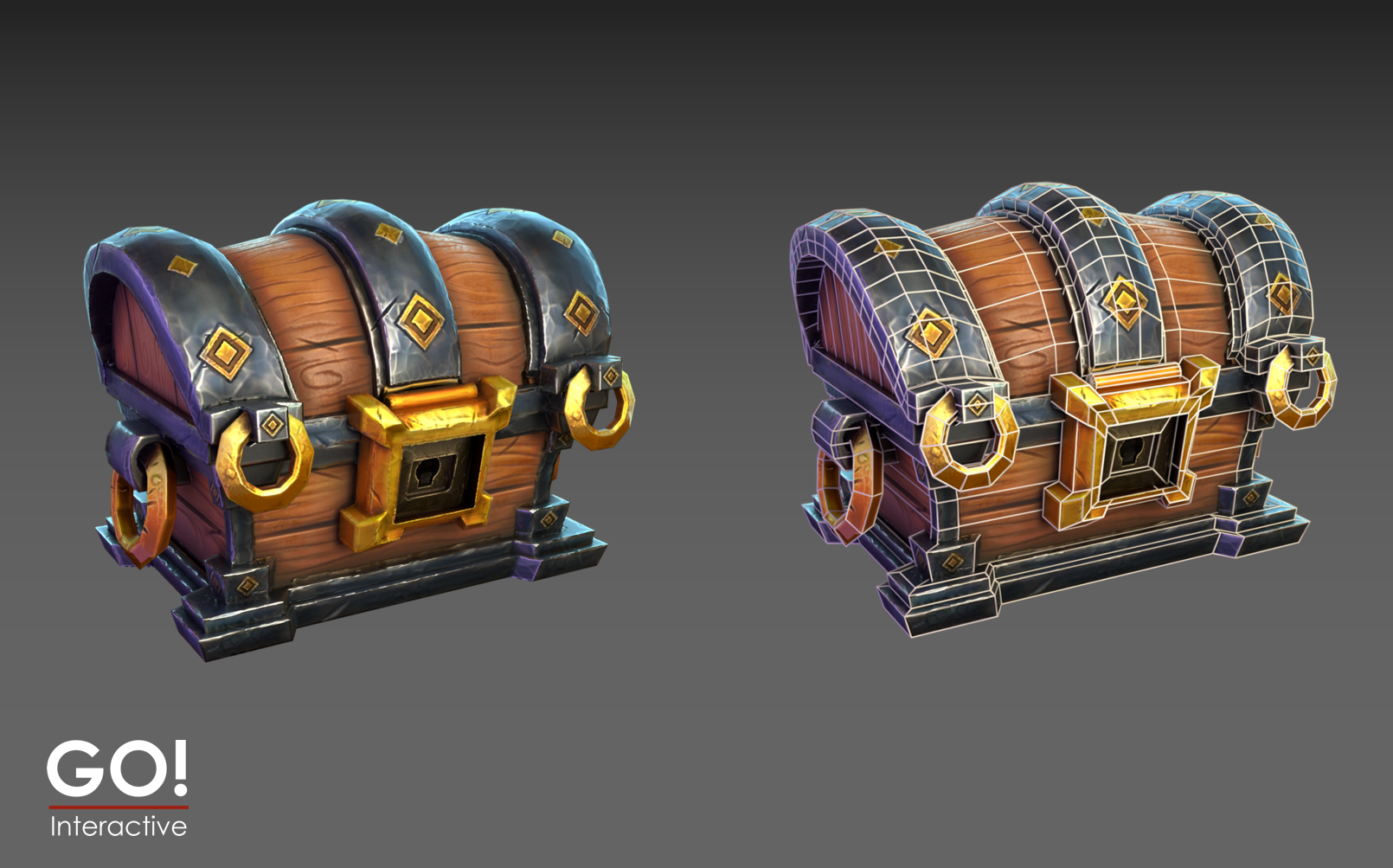 Treasure Chest Handpainted PBR
