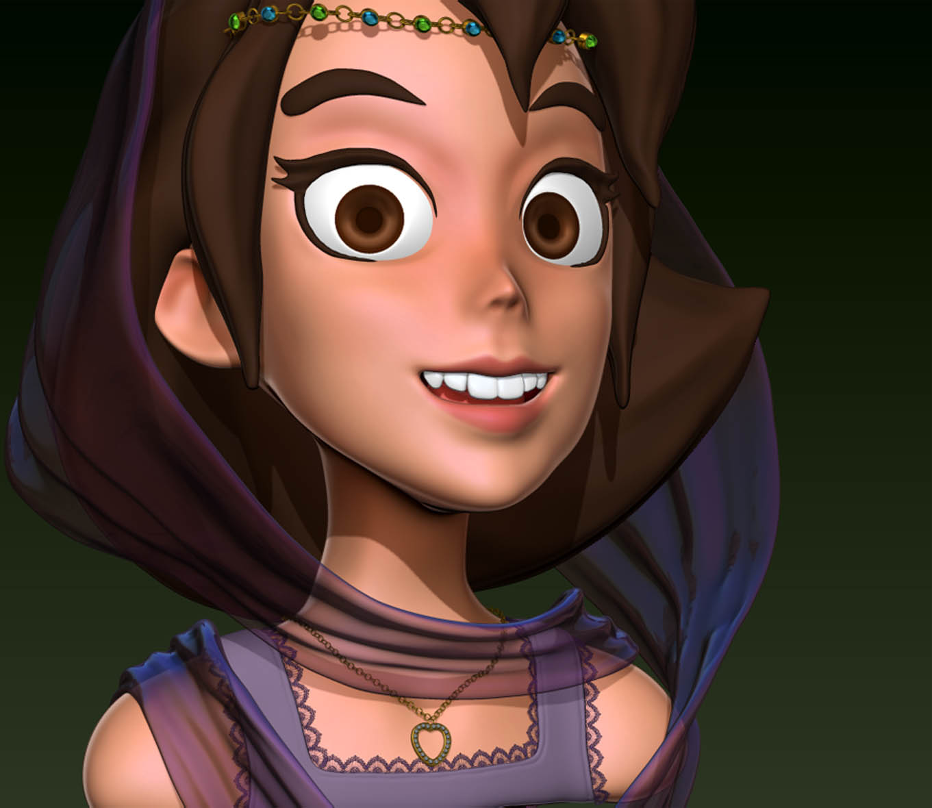 3D Arabian Girl Head by ZRashad