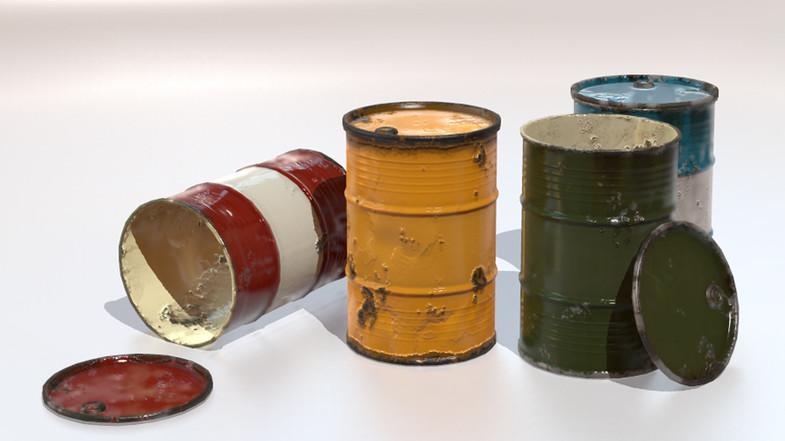 PBR Steel Barrel (Drum)