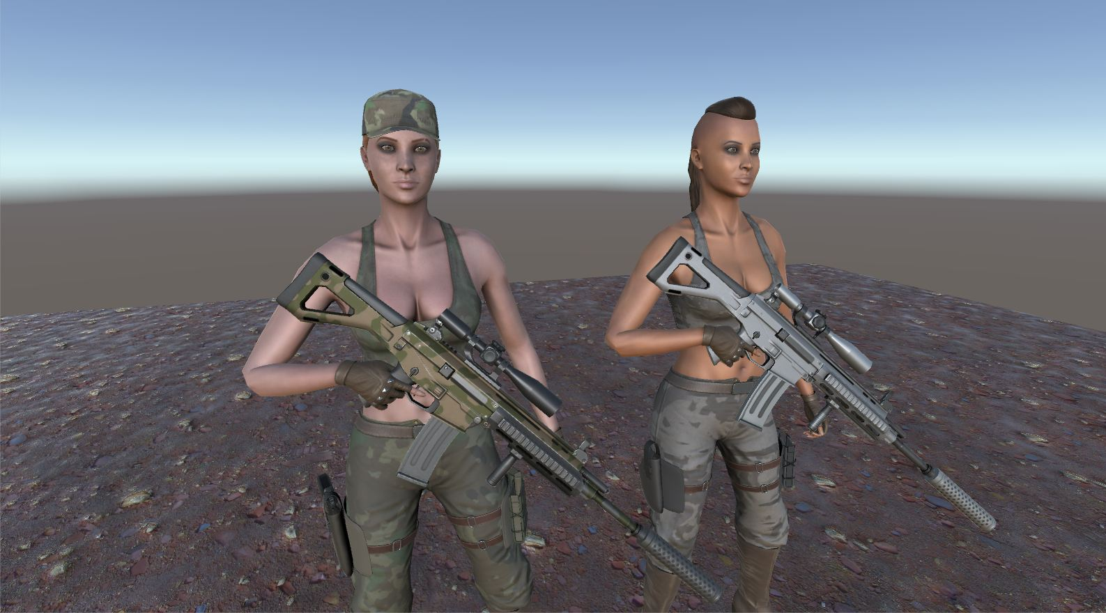 Customizable Female Soldier