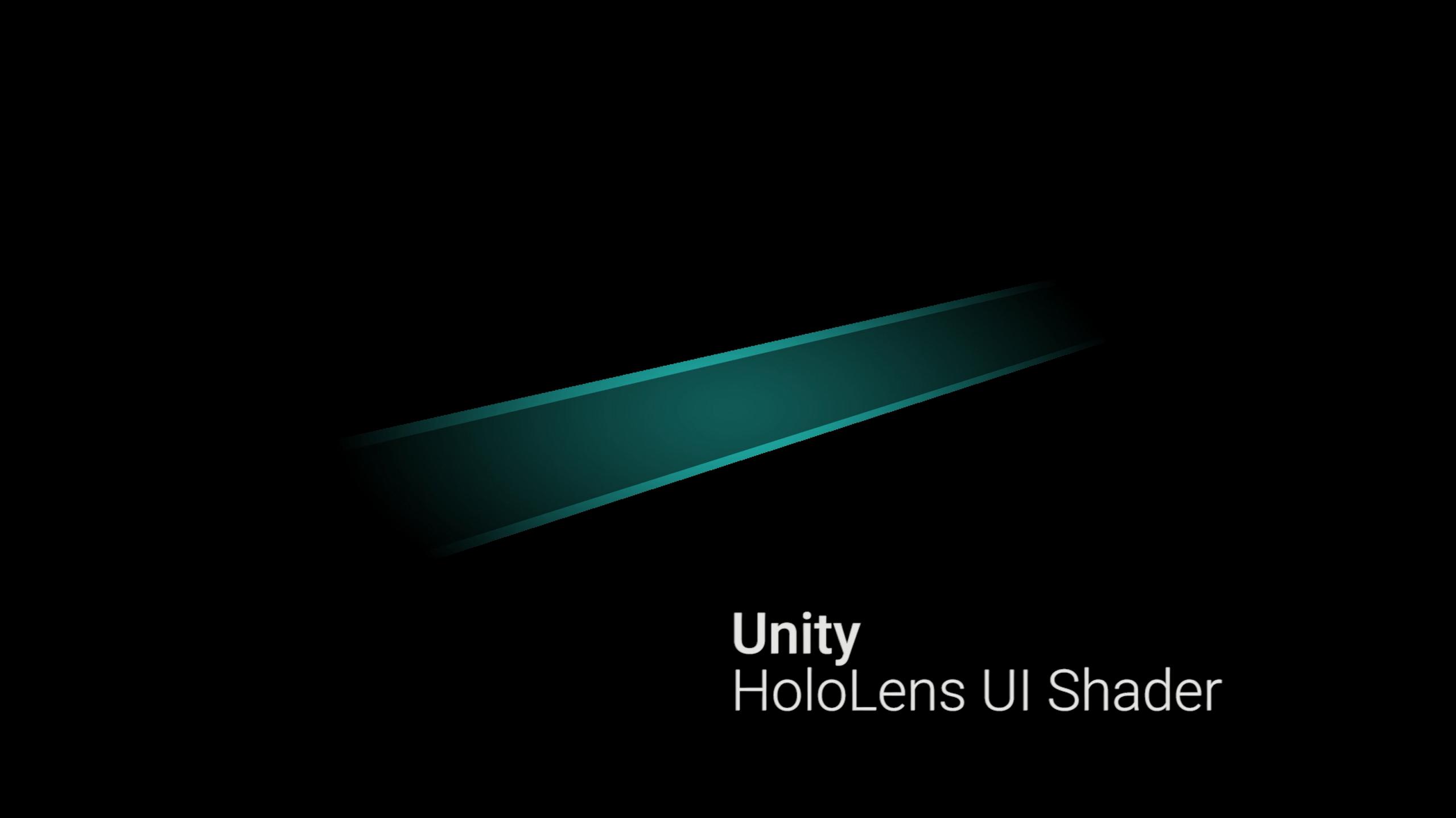 Unity HoloLens UI Shader