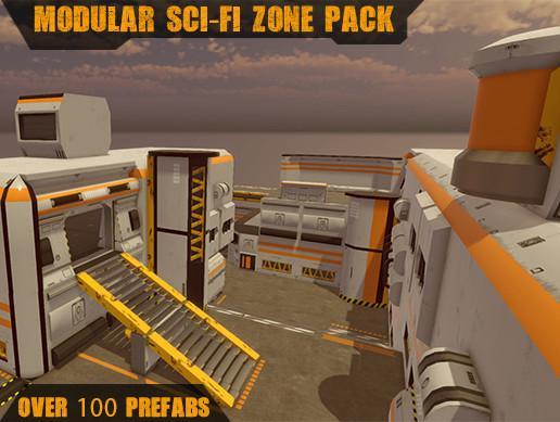 Modular Sci-fi Zone Pack