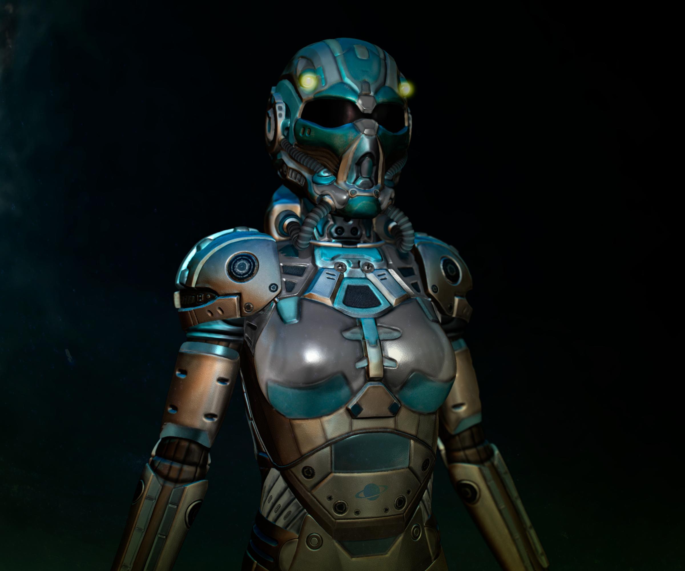 Sci-fi armour