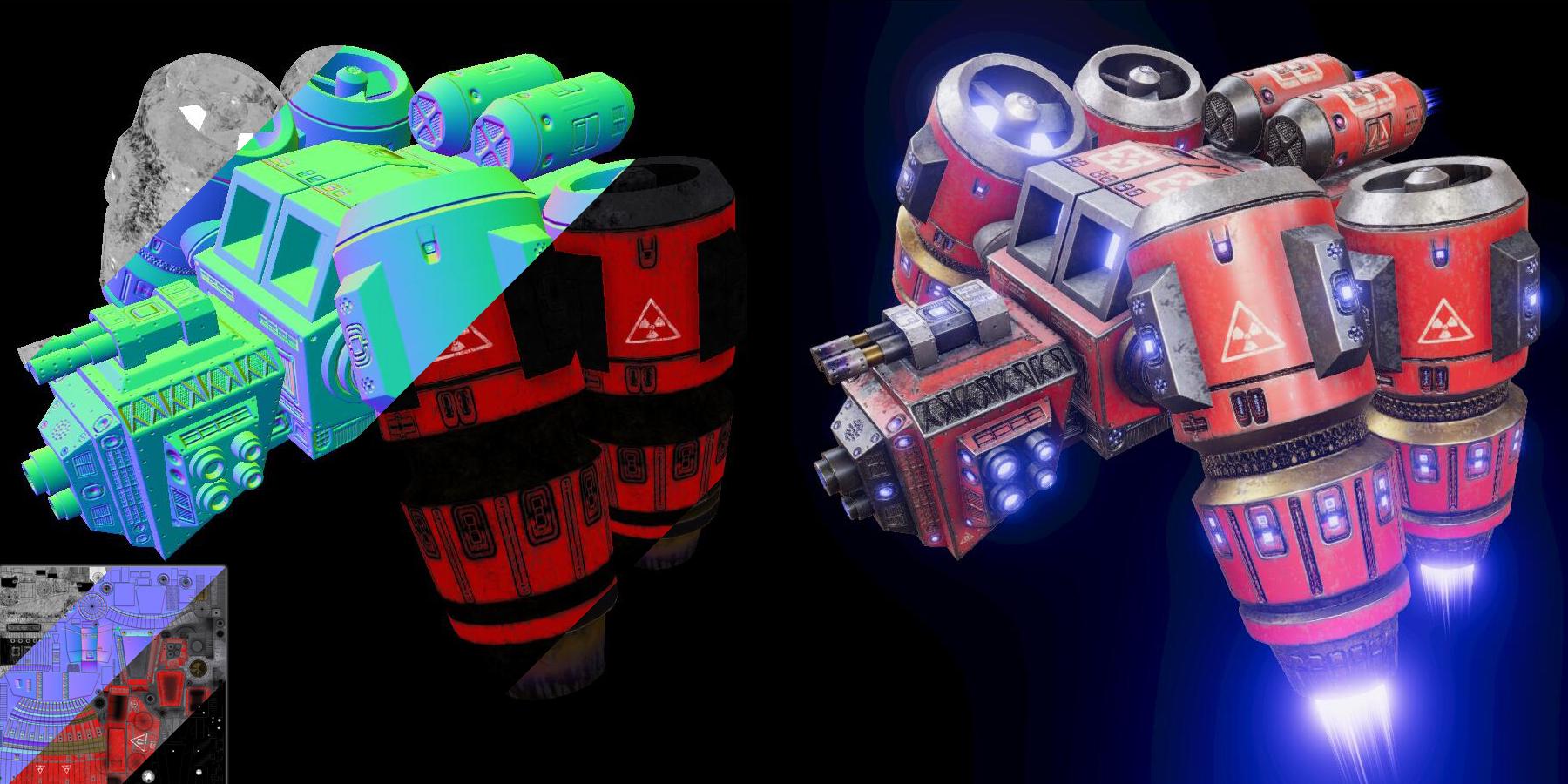 PBR Sci-Fi Space Ship Vol.01
