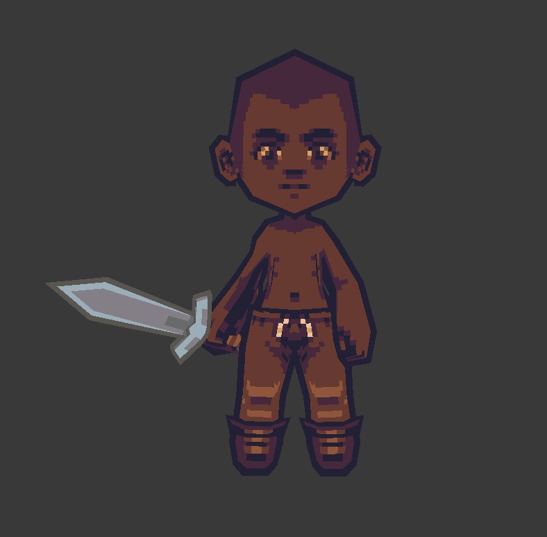 WIP low poly / pixel art game project
