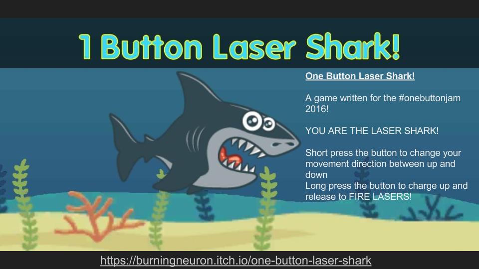 One Button Laser Shark