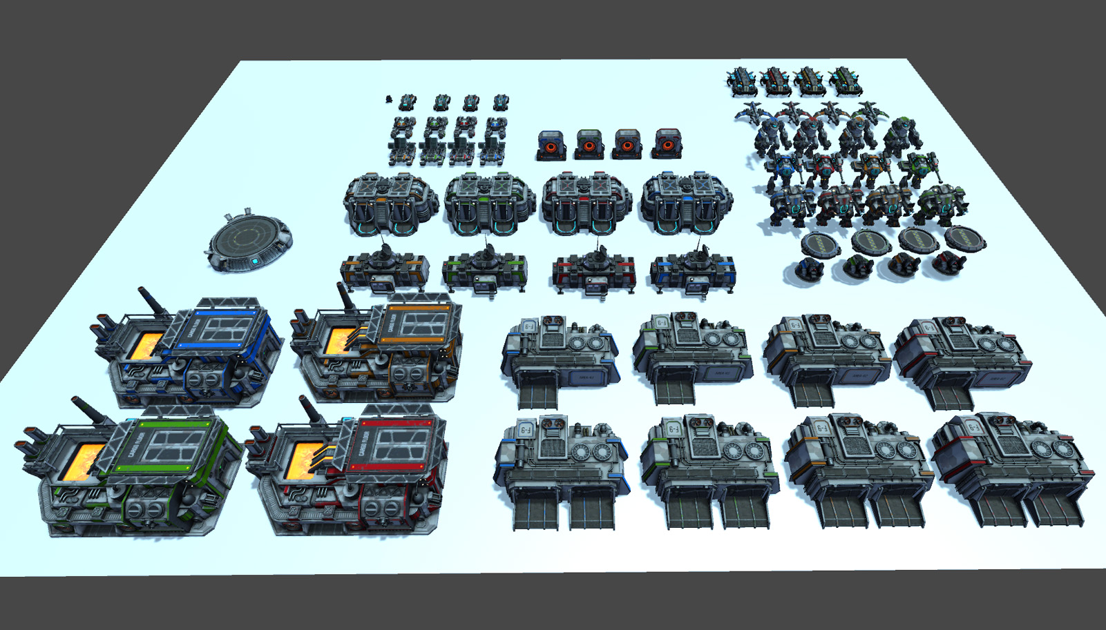 RTS Sci-Fi game assets v3 (coming soon on assetstore)