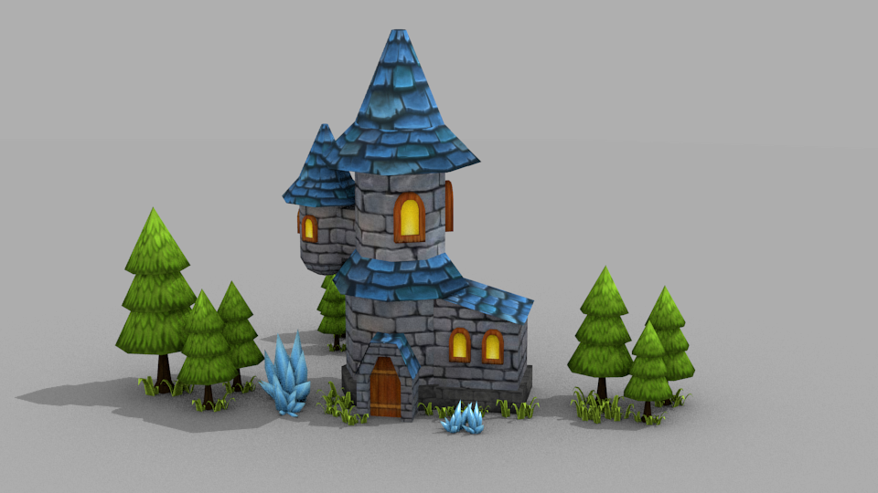 Wizard Tower [Low Poly Model]