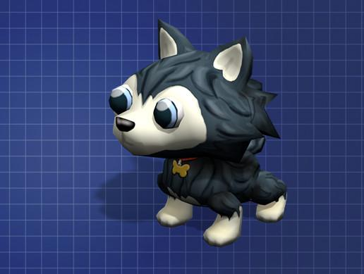 Cute Low Poly Husky