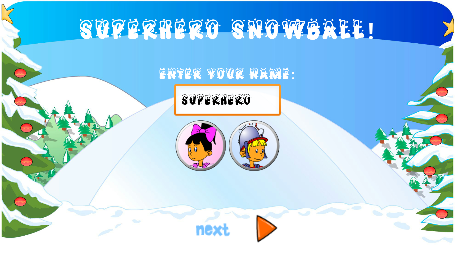 Superhero Snowball