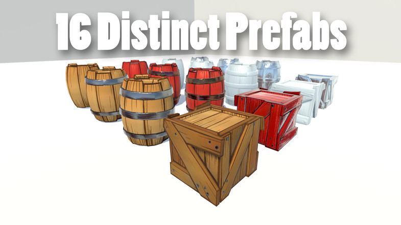 Stylized Crates and Barrels