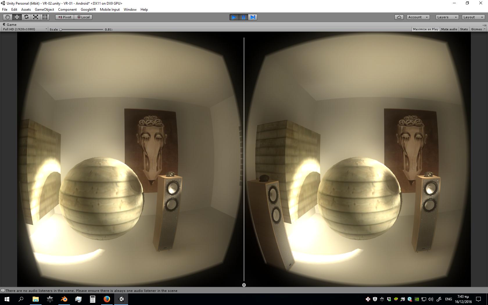 Optimized VR