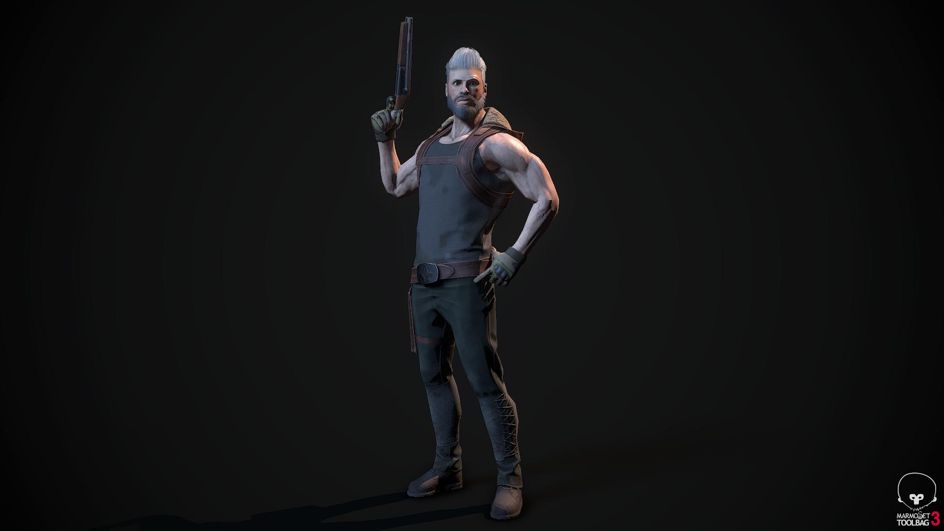Modern Action Hero - Humanoid Ready Character