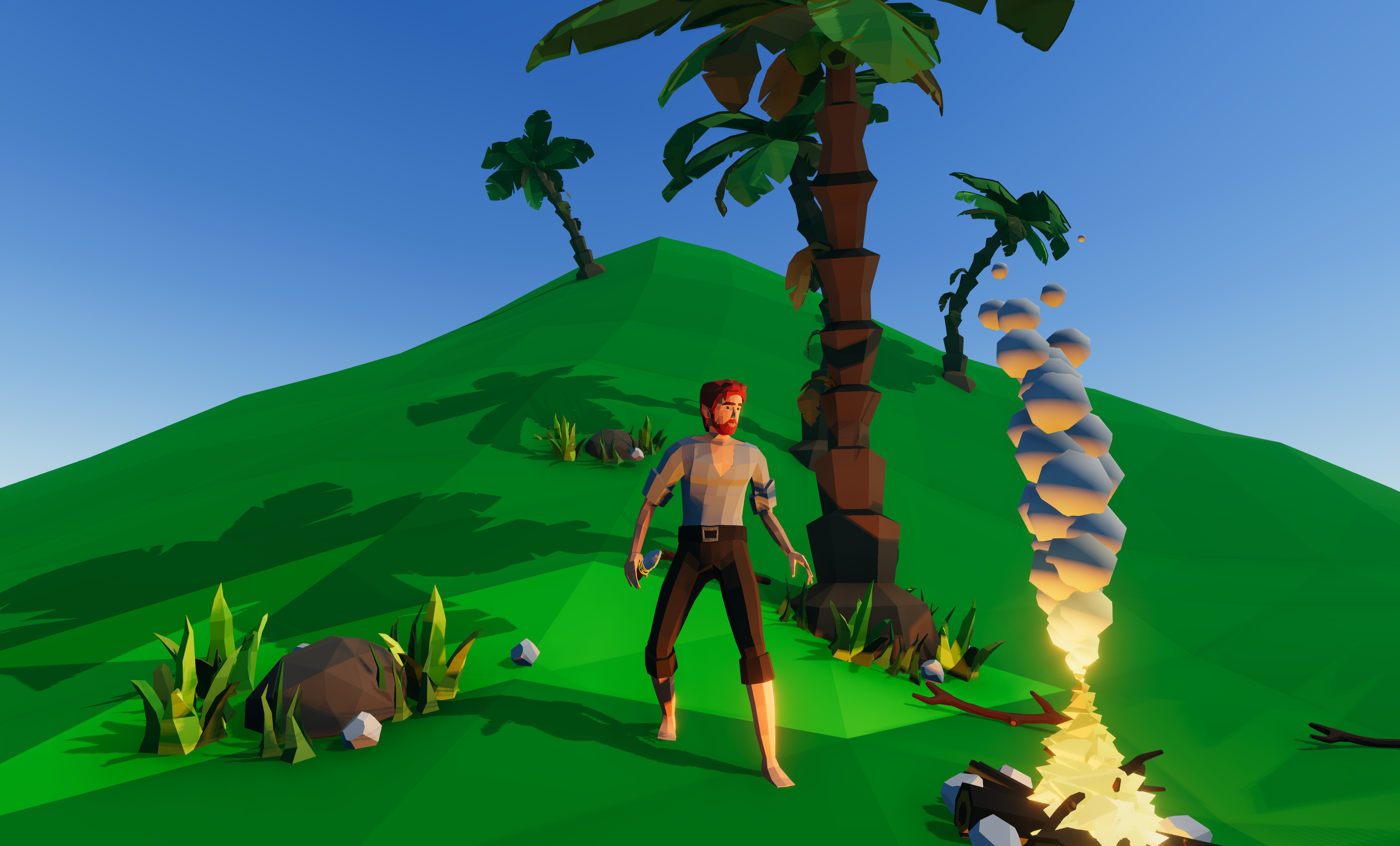 Low Poly Survival Adventure Game