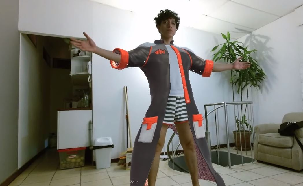 Its me, testing a combo of Kinect SDK + Dynamic cloth on Unity3D