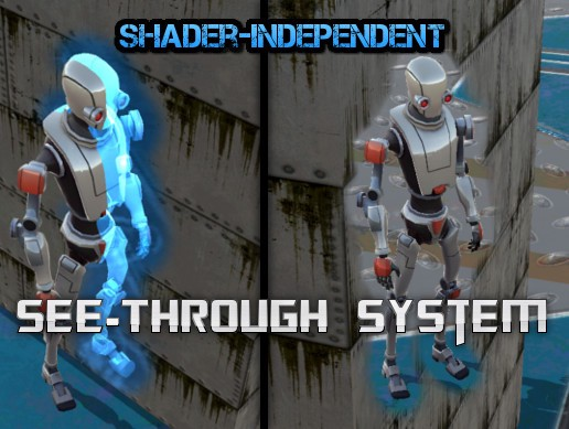 Shader-indenpendent see-through system