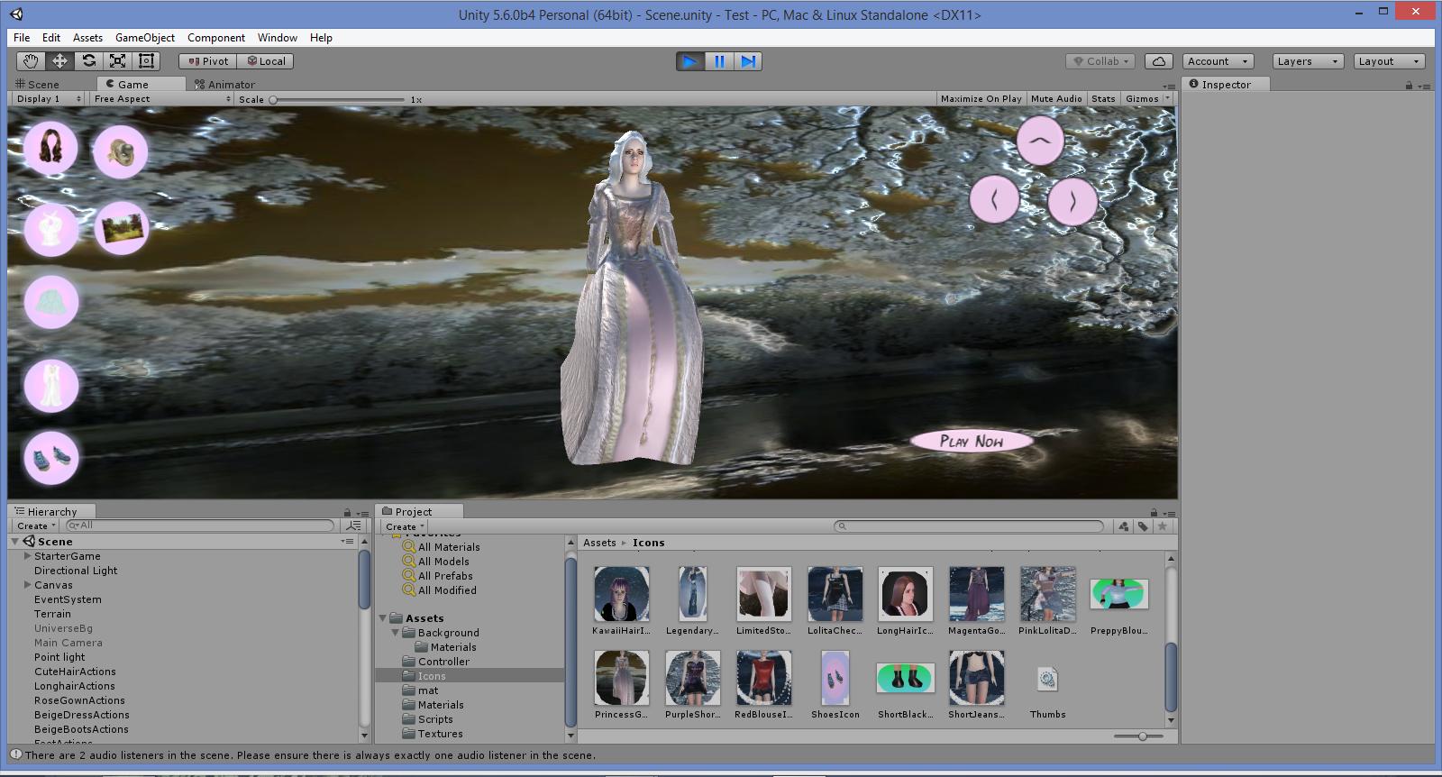 Unity 3D Fashion Game