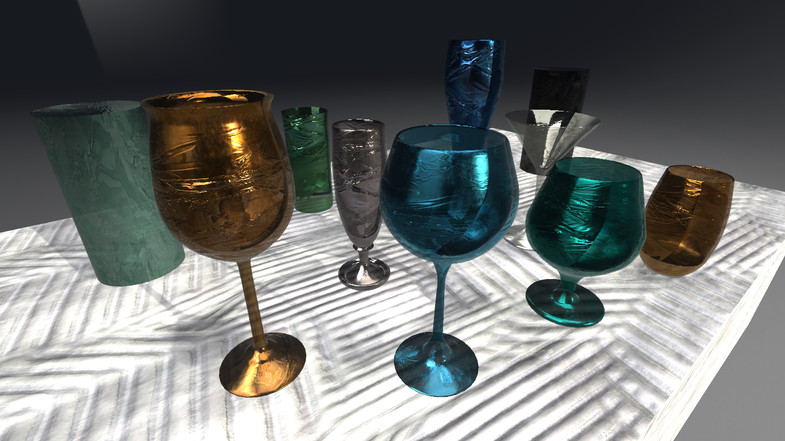 Ultra Realistic Glass Substance Material