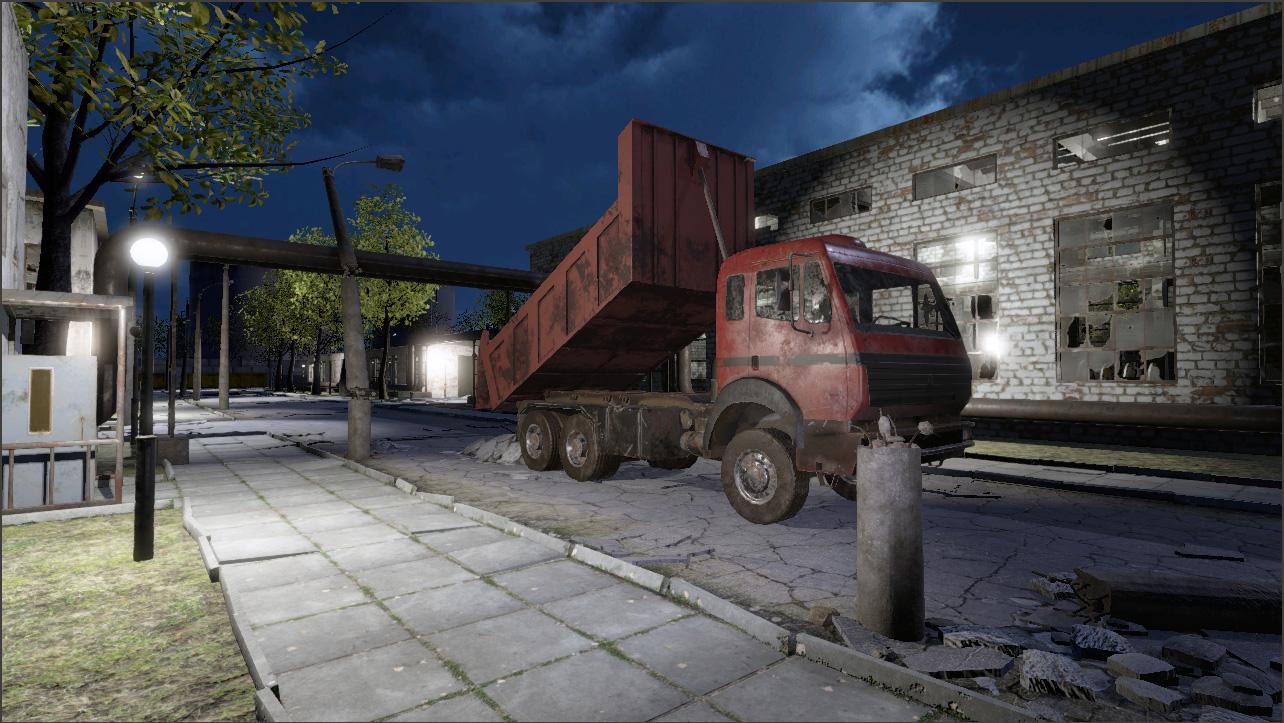 Abandoned Factory Scene