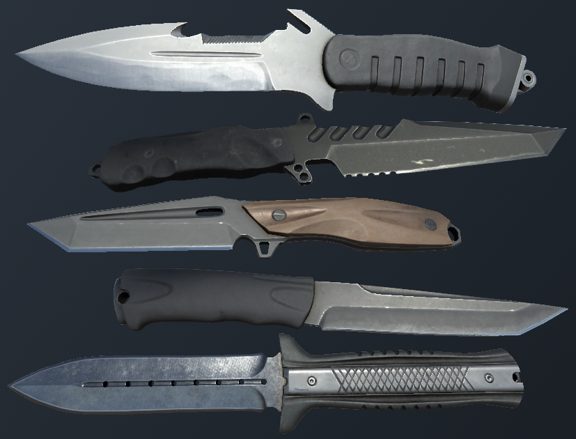 HQ PBR Combat Knives pack
