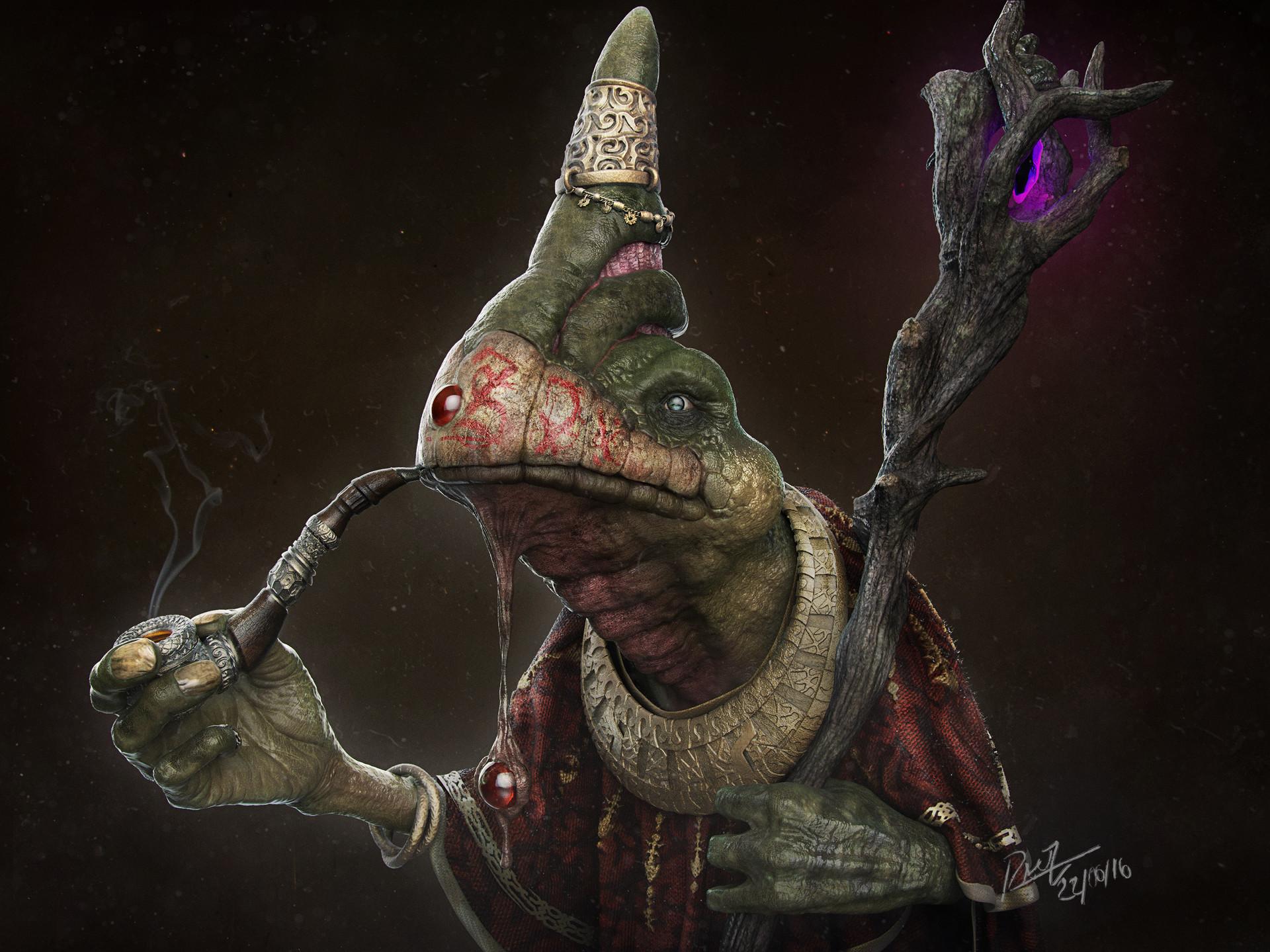Alien Frog Mage