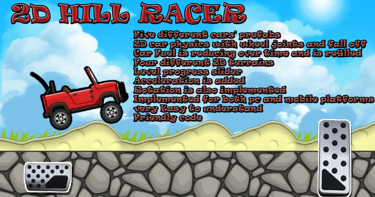 2D Hill Car Racer