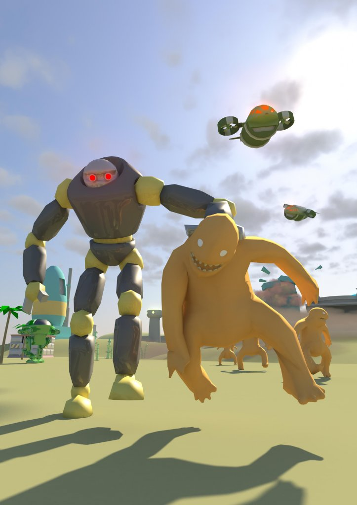 MonsTECA - Monsters vs Robots