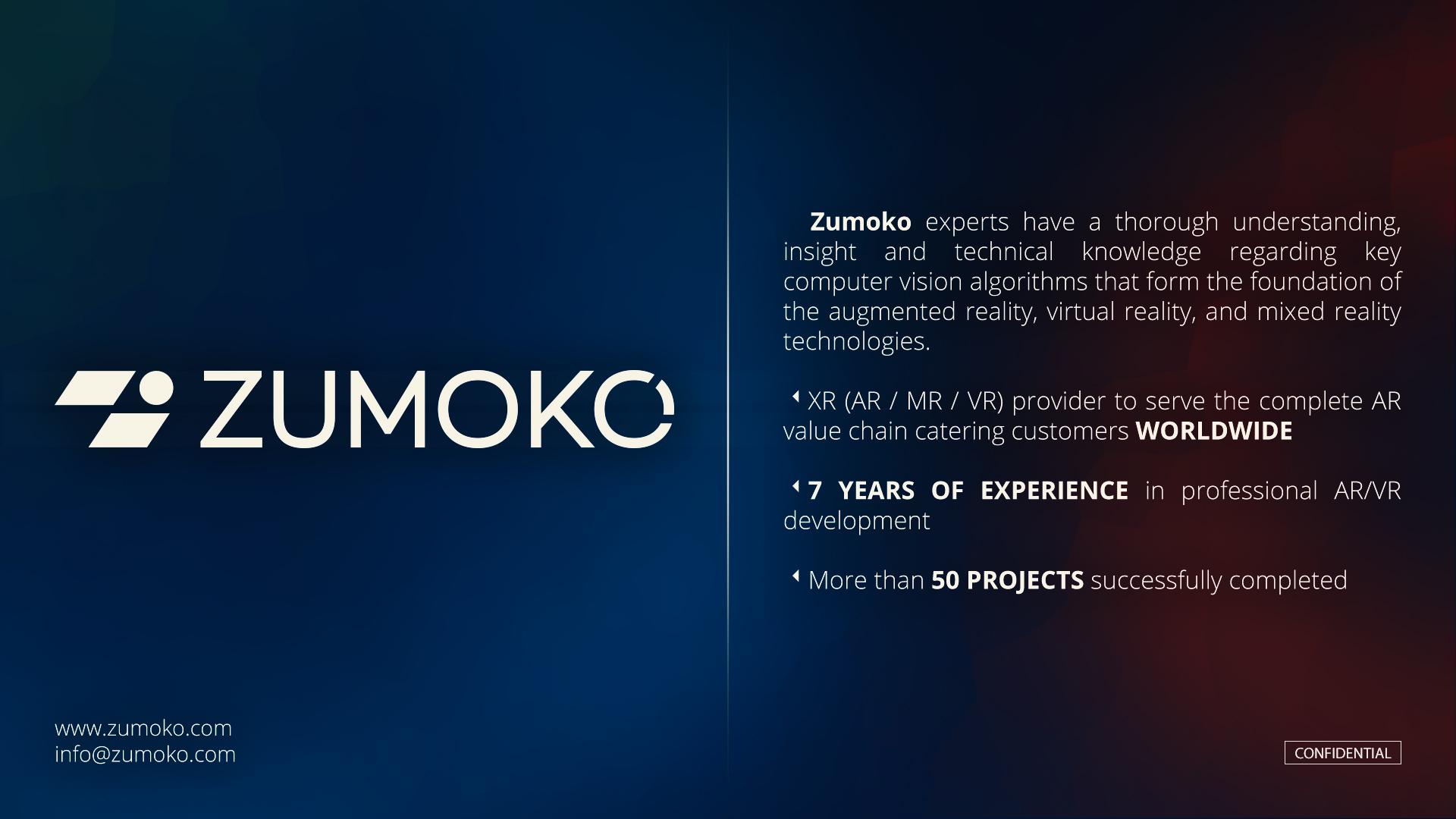 Zumoko AR / VR Expertise