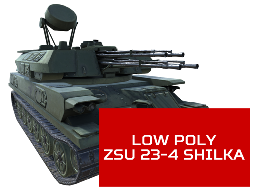 Low Poly ZSU 23-4 Shilka Incoming!