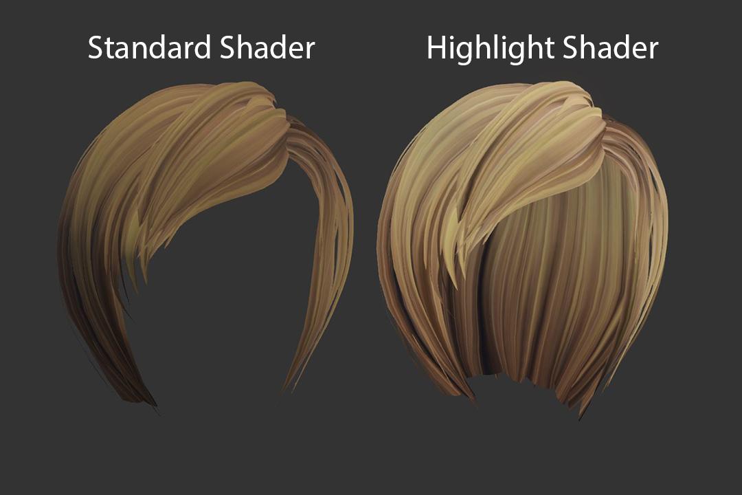 Hair Highlight Shader