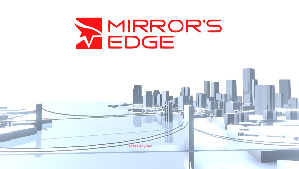 Replicating Mirror's Edge Main Menu