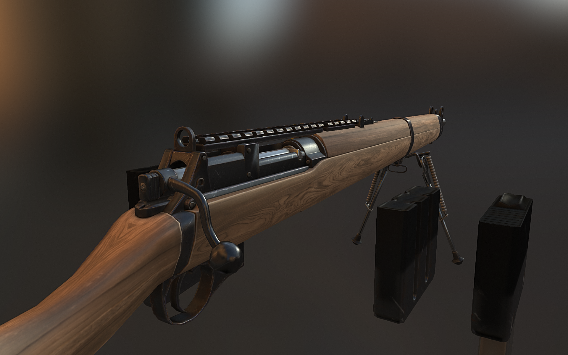 Wooden Rifle PBR