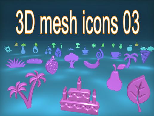 3D mesh icons 03
