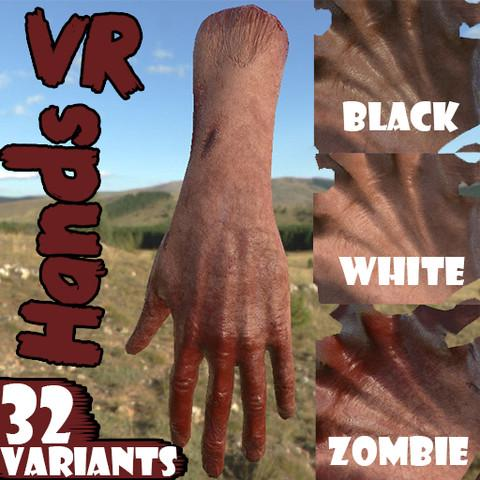 VR Hands [32 Variations] [Animated] [PBR] [Optimized/Low]