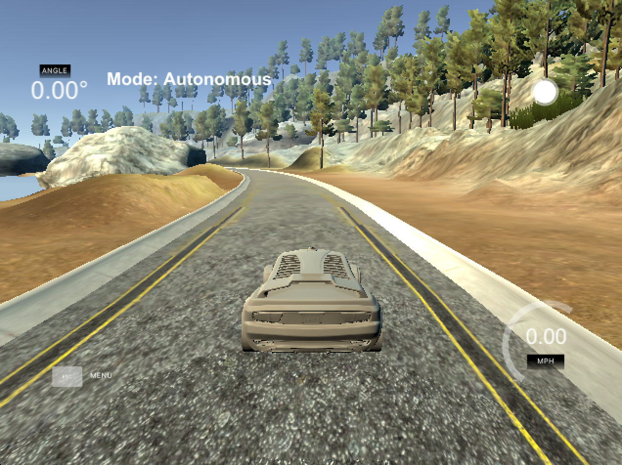 Mower simulator