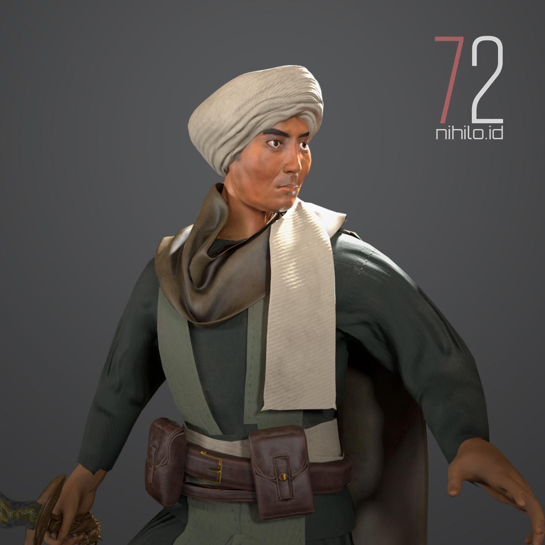 3D Character - Diponegoro