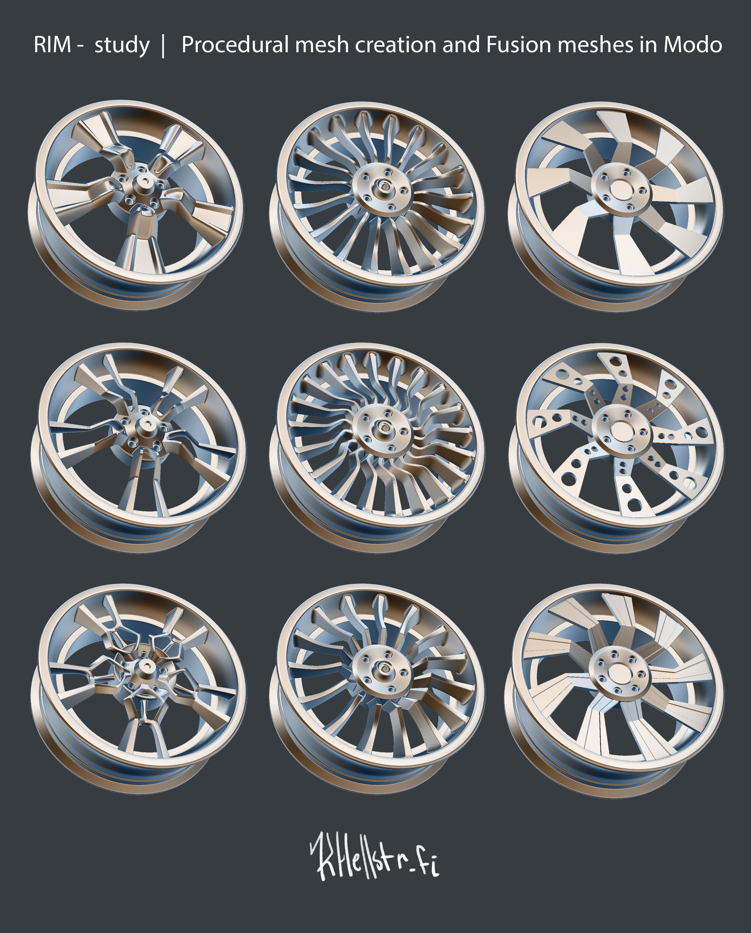 Procedural Rim model rig